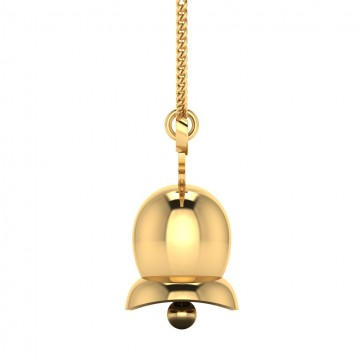 The Christmas Bell Gold Pendant