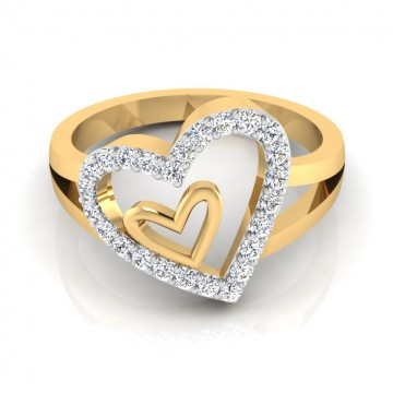 The Affinity Heart Diamond Ring