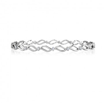 The Afzar Silver Bangle