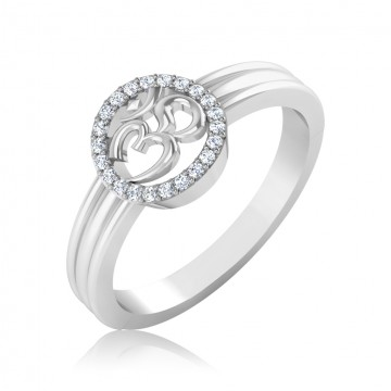 The Traditional Om Diamond Mens Ring