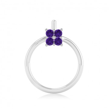 The Classy Amethyst Nose Pin