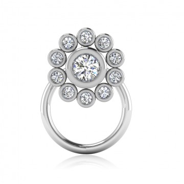 The Elakshi Silver Nose Pin