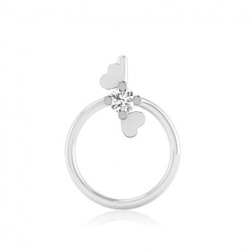 The Diva Silver Nose Pin