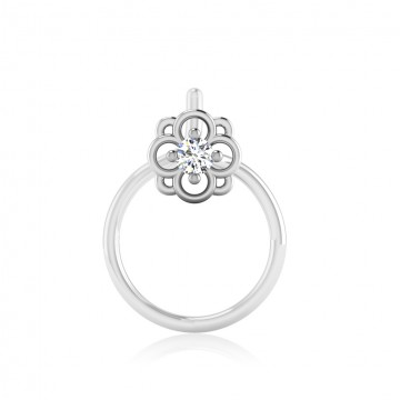 The Rupam Solitaire Diamond Nose Pin
