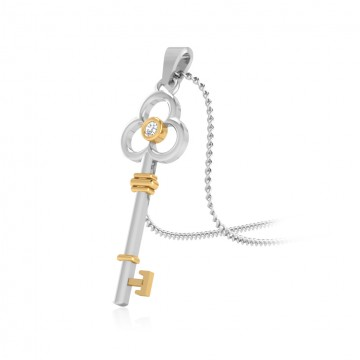The Beguil Key Silver Pendant