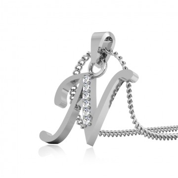 The Classy N Silver Pendant