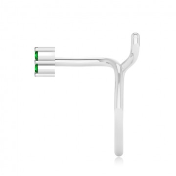 The Classy Emerald Nose Pin