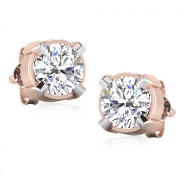 The Classy Solitaire Stud Earrings