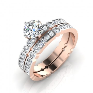 The Calisra Solitaire Silver Ring Set